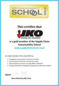 Sustainability Gold Award Certif Oct 2015
