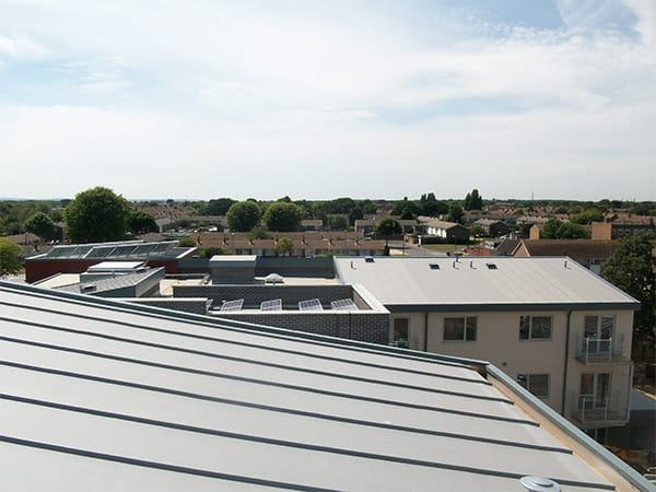 single ply roofing project