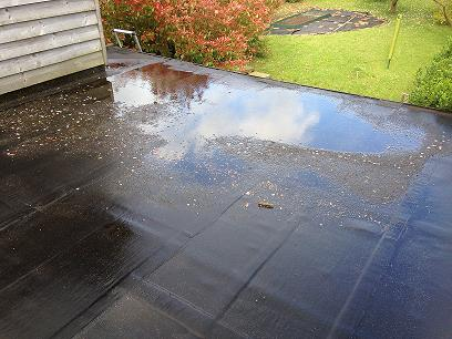 ponding on flat roof