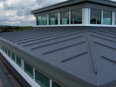 single ply membrane with standing seam