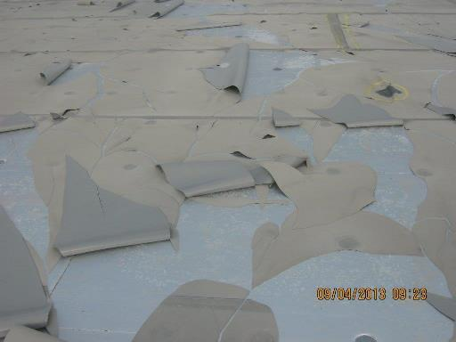 badly maintained flat roof