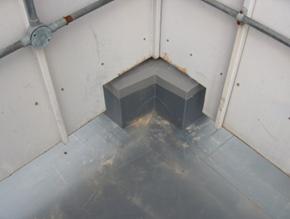 single ply membrane corner installation