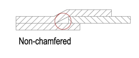 non-chamfered