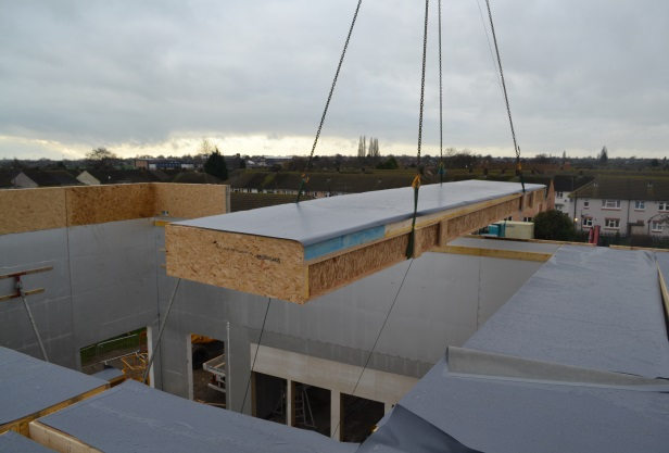 fast track installation with offsite manufactured roofing panel